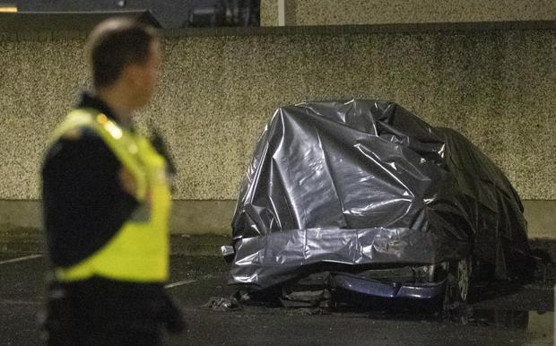 Body of man found in burning auto in Dublin