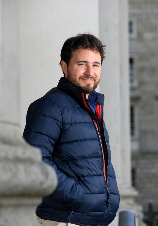 Advice: Josh Littlejohn at Trinity College, the location for the Dublin Sleep Out on December 7. Photo by Frank Mc Grath