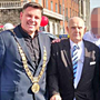 Taxi Drivers' Special Children's Day Out: Dublin Lord Mayor Paul McAulliffe (left) and Johnny Walker at the charity event in September