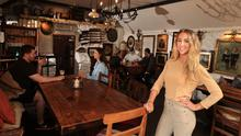 Adapting to change: Business manager Kaitlin McMahon in Johnnie Fox's in advance of the Co Dublin pub's reopening. Picture by Gerry Mooney