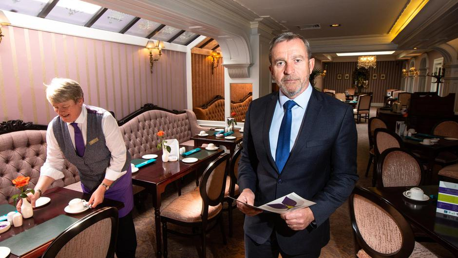 Paul Gallagher , General Manager at Buswells Hotel, Dublin. Photo: Mark Condren