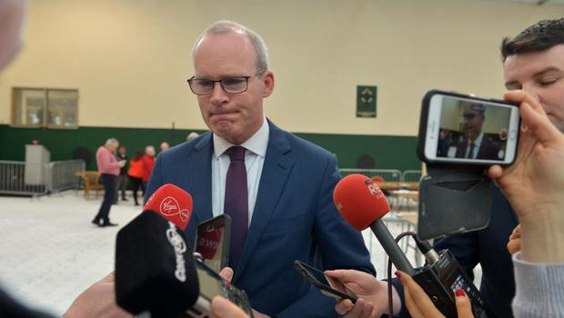 'Challenge': Tánaiste Simon Coveney speaks to reporters in Cork South Central count centre. Photo: Michael MacSweeney