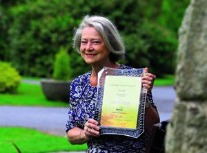 Kate Adie in Waterford with her certificate