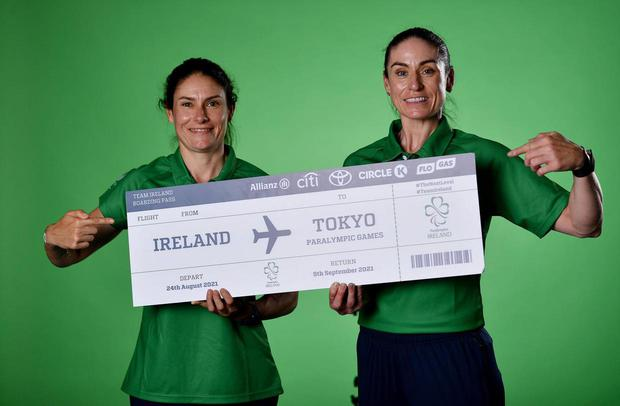 Eve McCrystal, right, and Katie-George Dunlevy. Picture: Sportsfile
