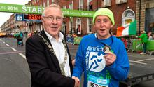 Lord Mayor of Dublin Christy Burke with John Collins