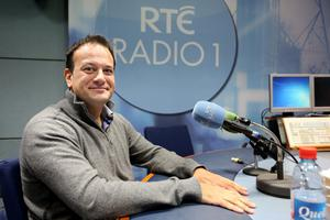 Minister for Health Leo Varadkar in RTE studios on Sunday