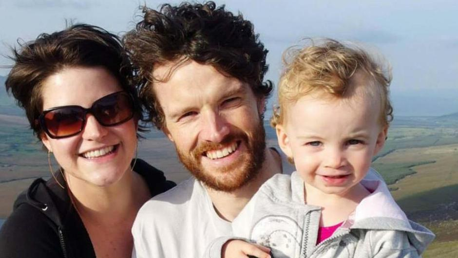 Vincent Wall and his wife Amy with their daughter Estlin, who tragically died in 2017.