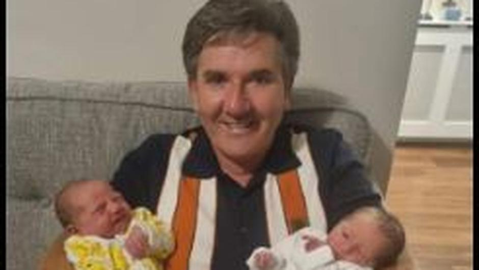 Daniel O'Donnell and his niece Patricia's new twin girls Ava and Kayleigh