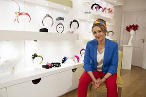 Turning heads: Emily-Jean O'Byrne in Moycullen, Co Galway – the milliner's 'Turbands' are the result of her pivoting her business by offering customers a more affordable range. Photo: Andrew Downes