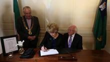 Book of condolences at Mansion House