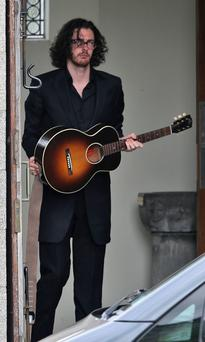 Singer Hozier before he sang at the funeral of Olivia Burke in Foxrock in Dublin