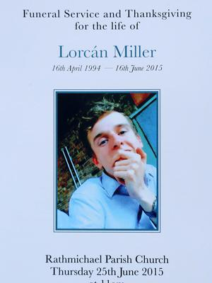 A photo of Lorcan Miller on the Mass booklet