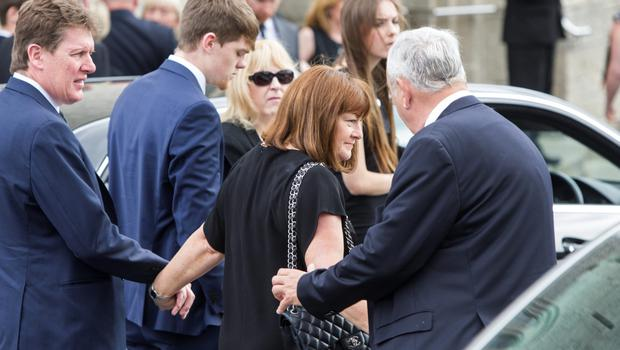 Paula and Paul Burke at the funeral of their daughter Olivia in Foxrock