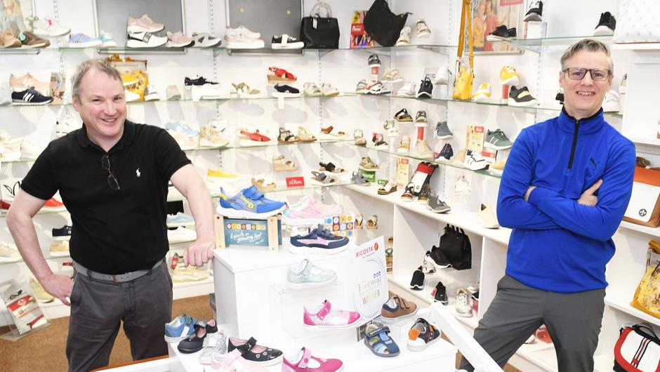 Austin (left) and Paul Finn who own Finn Footwear with branches in Ballyhaunis and Kiltimagh, Co Mayo.