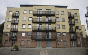 The Tolka Vale apartment complex from which the toddler fell 30 feet