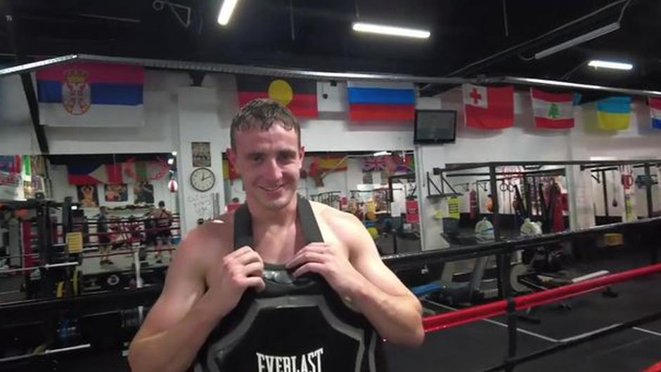 Normal People actor Paul Mescal at the MTK gym in Sydney last week