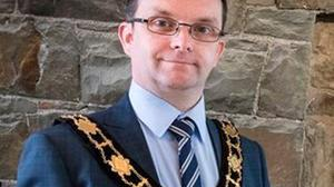 Controversial: DUP councillor Paul Hamill, a former mayor of Antrim and Newtownabbey Council. The father-of-two died earlier this month after contracting Covid