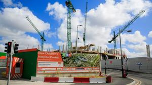 The construction site of the new National Children's Hospital in Dublin