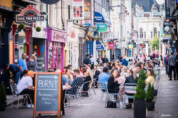Outdoor dining in Cork last summer. Photo: Visit Cork