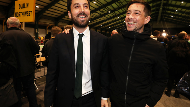 Eoghan Murphy celebrates keeping his with his actor brother Killian Scott