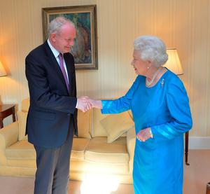 Queen Elizabth meets martin McGuinness in June.