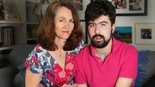 Support: Lisa Domican, with her son Liam, pictured at their home in Greystones. Photo: Damien Eagers