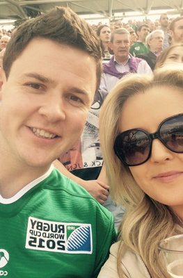 Paddy Kennedy with his girlfriend Lorna