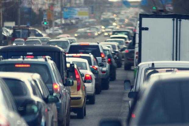 Traffic jams were non-existant during the early days of lockdown