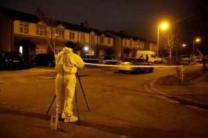 The scene of a double shooting: Grange View Lawns, Clondalkin