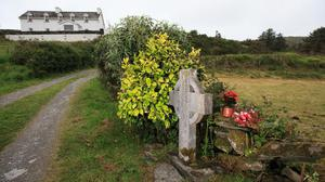 The Celtic cross where Sophie Toscan du Plantier was discovered
