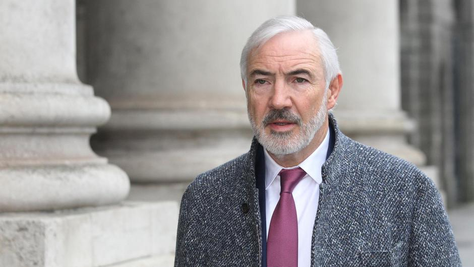 Sean Dunne pictured at the Four Courts for a High Court hearing in 2018. Photo: Collins Courts