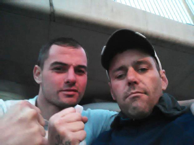 Damien Singleton (left) and Peter Donnelly