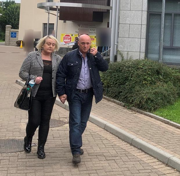 Dave Mahon (right) and his wife Audrey at                   Carrick-on-Shannon District Court