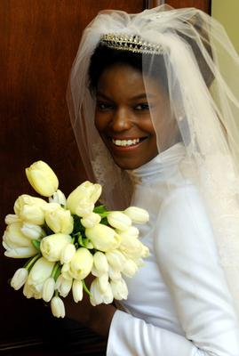 Sade Coppens on her wedding day