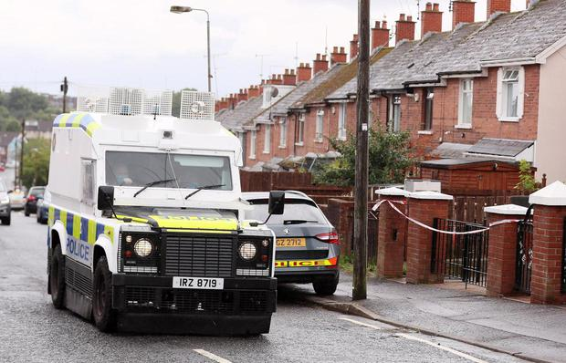 Police at the scene of the incident. Pic Presseye