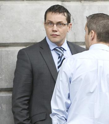 Garda Wesley Kenny (glasses), with an address in Sandyford, Dublin 18, pictured at Limerick District Court
