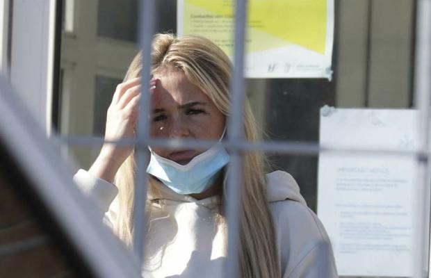Kirstie McGrath pictured at Tallaght District Court today for a court appearance. Pic: Paddy Cummins/IrishPhotodesk.ie