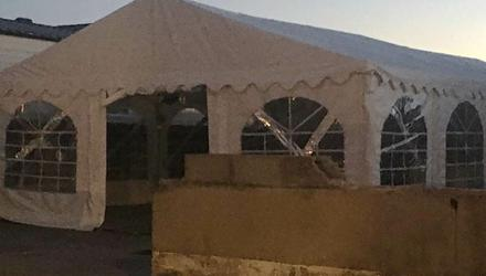 Phone images of a marquee erected at the Meelagh halting site in Mahon, Cork city for a weekend wedding and removed overnight. A court injunction was granted against it being re-erected. Pic Provision
