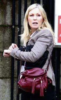 Christine Connolly outside court