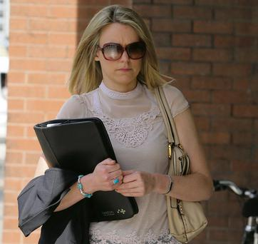 Ciara O'Connell leaving court in Dublin