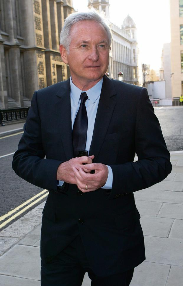 Paddy McKillen outside the London High Court last year