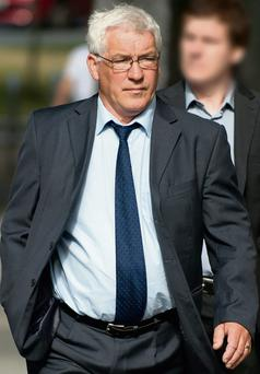 Raymond McKeown arriving at court