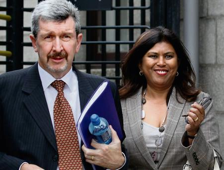 Brian and Cheryl Buckley outside the High Court
