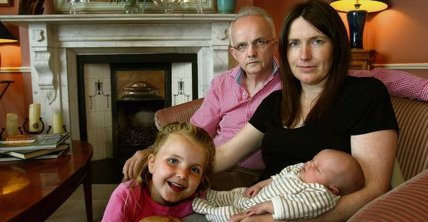 CLEARED TO TAKE CRIMINAL PROSECUTION: Owner of The Aberdeen Lodge guesthouse, the Merrion Hall Boutique and Halpin's Townhouse, Pat Halpin, with his partner Ann, daughter, Simone and son Blake.