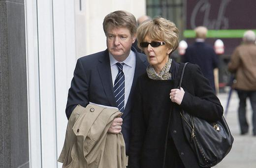 Brian O'Donnell and Dr Mary Patricia O'Donnell in London.