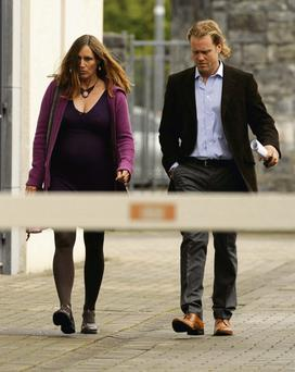Sarah Williams and Emmet Heneghan arrive at Castlebar Coroner's Court