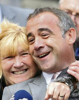 Michael Le Vell: actor celebrates his acquittal with his sister, Sue
