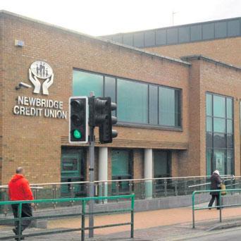 The offices of Newbridge Credit Union, which has a huge hole in its accounts.