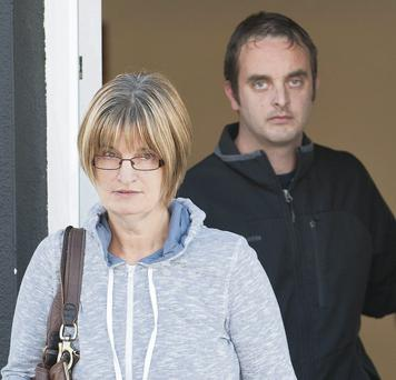 Anne and Darren Grealish leaving Derrynea District Court in Connemara