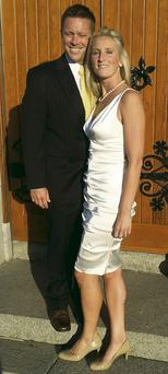 Sean and Emily at their wedding ceremony in Ireland, just a few days before the accident.